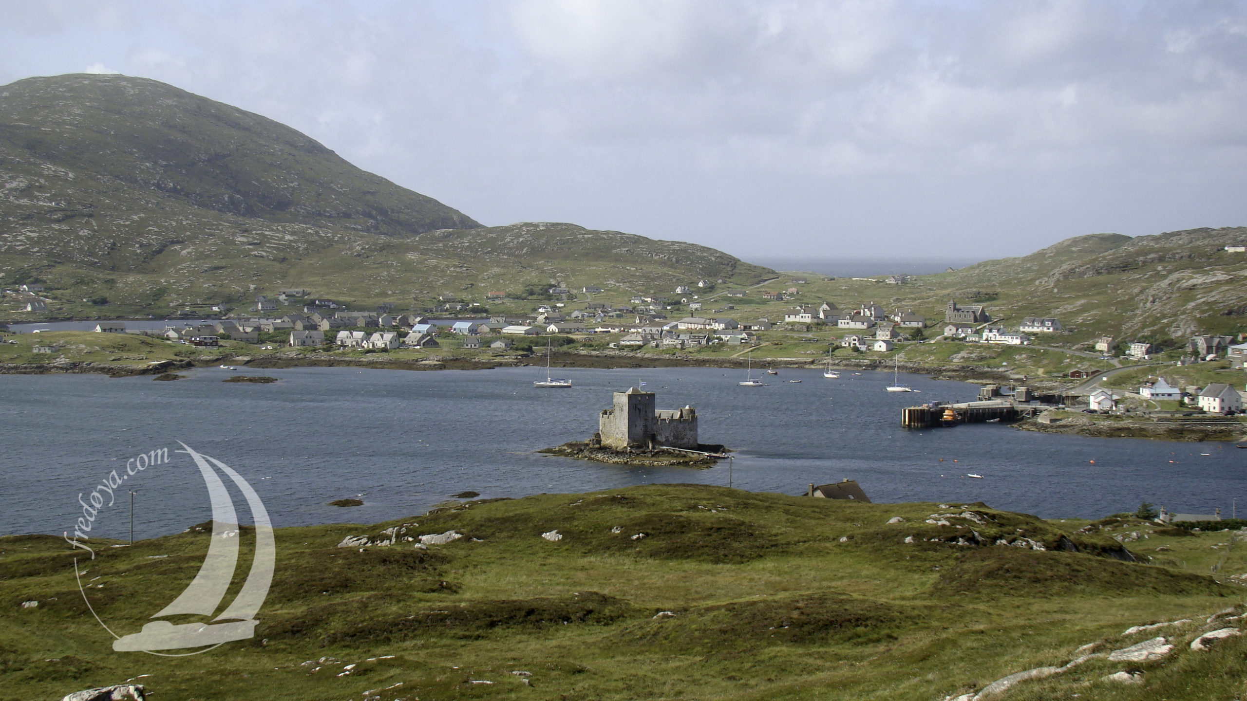 Scotland, Barra ruine de tour