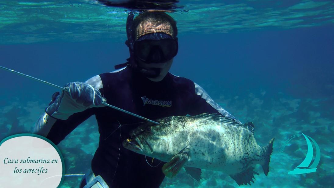 Caza submarina en los arrecifes